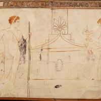 man and woman at sarcoph, lek deposits, lamp.jpg